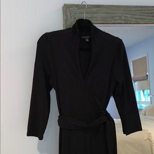 Black wrap -stretch dress